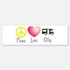 Peace, Love, RVing Bumper Bumper Bumper Sticker