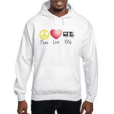 Peace, Love, RVing Hoodie