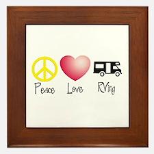 Peace, Love, RVing Framed Tile