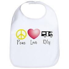Peace, Love, RVing Bib