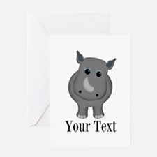 Rhino Baby Greeting Cards