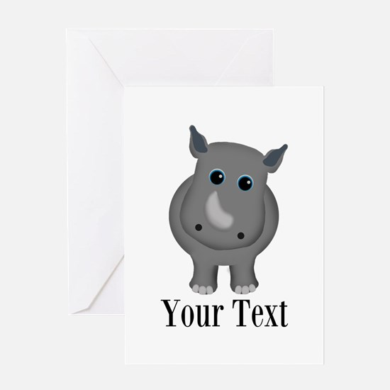 Rhino Baby Greeting Cards