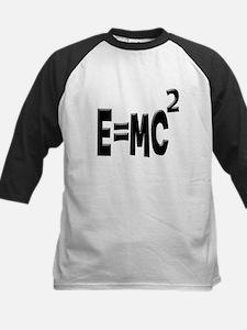 E=MC2 (black) Kids Baseball Jersey