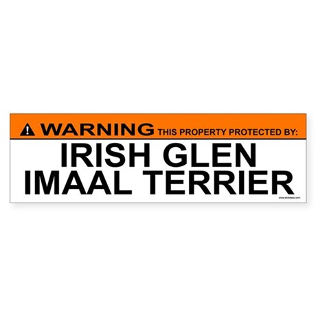 IRISH GLEN IMAAL TERRIER Bumper Sticker