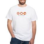 PEACE. LOVE. CHEERLEADING. White T-Shirt