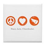 PEACE. LOVE. CHEERLEADING. Tile Coaster