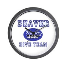 Beaver Dive Team Wall Clock