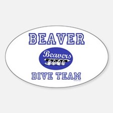Beaver Dive Team Oval Decal