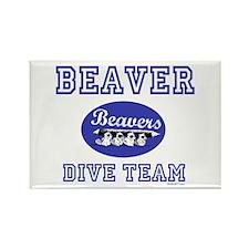 Beaver Dive Team Rectangle Magnet