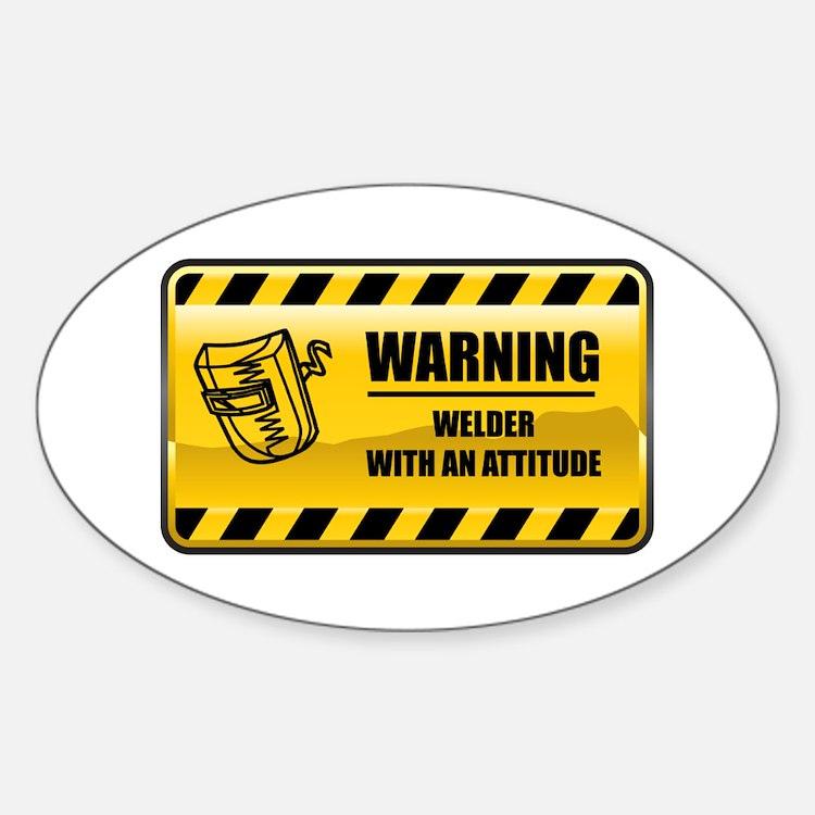 Warning Welder Oval Decal