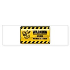 Warning Welder Bumper Car Sticker