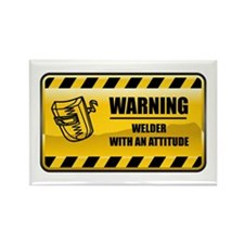 Warning Welder Rectangle Magnet