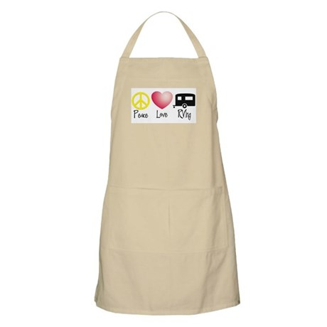 Peace, Love, RVing (travel tr BBQ Apron