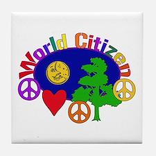 Citizen Of One World Tile Coaster