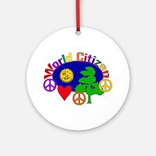 Citizen Of One World Ornament (Round)