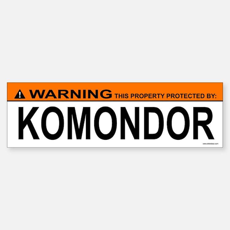 KOMONDOR Bumper Bumper Bumper Sticker