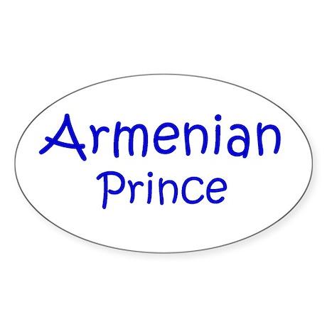 Armenian Prince Oval Sticker