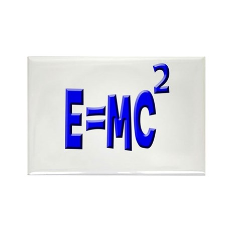 E=MC2 (blue) Rectangle Magnet (100 pack)