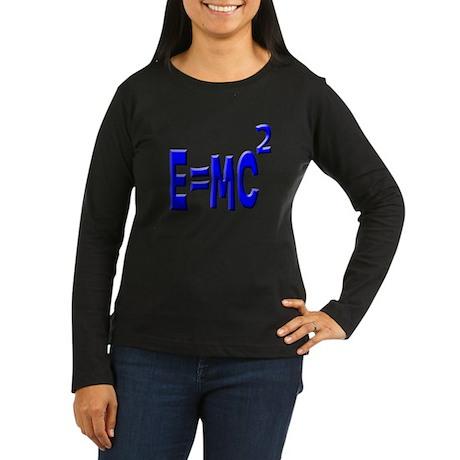 E=MC2 (blue) Women's Long Sleeve Dark T-Shirt
