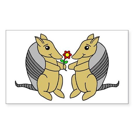 Armadillove Rectangle Sticker