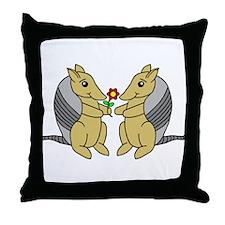 Armadillove Throw Pillow