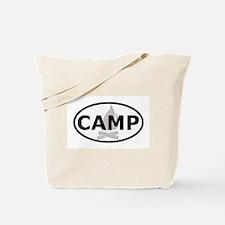 Camp Oval Sticker Tote Bag