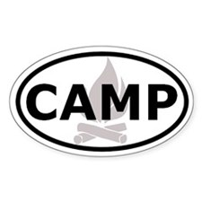 Camp Oval Bumper Stickers Oval Bumper Stickers