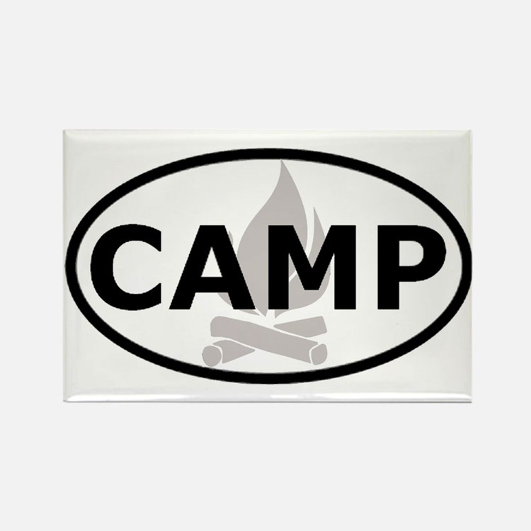 Camp Oval Sticker Rectangle Magnet (10 pack)