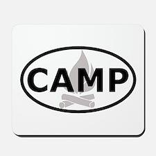 Camp Oval Sticker Mousepad