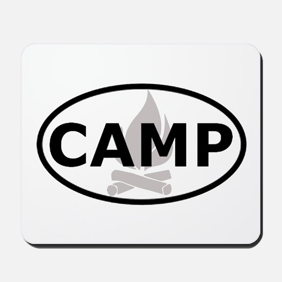 Camp Oval Sticker Mousepad