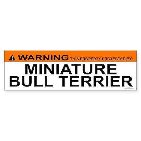 MINIATURE BULL TERRIER Bumper Sticker