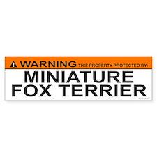 MINIATURE FOX TERRIER Bumper Bumper Sticker
