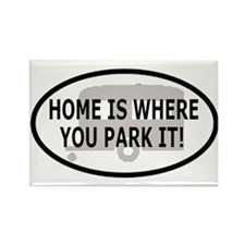 Home Oval Sticker 1 Rectangle Magnet