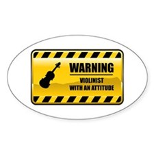 Warning Violinist Oval Decal