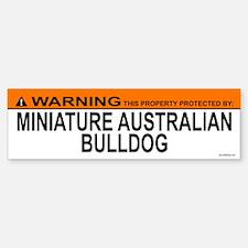 MINIATURE AUSTRALIAN BULLDOG Bumper Bumper Bumper Sticker