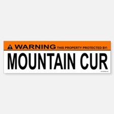 MOUNTAIN CUR Bumper Bumper Bumper Sticker