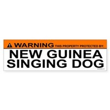 NEW GUINEA SINGING DOG Bumper Bumper Sticker