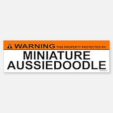 MINIATURE AUSSIEDOODLE Bumper Bumper Bumper Sticker