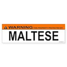 MALTESE Bumper Bumper Sticker