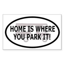 Home Oval Decal 2 Rectangle Decal
