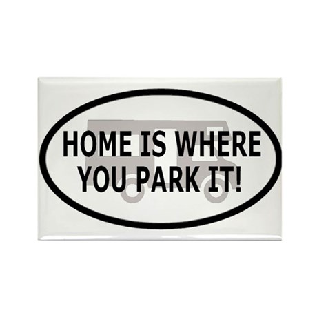 Home Oval Sticker 2 Rectangle Magnet (100 pack)