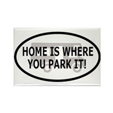 Home Oval Sticker 2 Rectangle Magnet