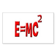 E=MC2 (red) Rectangle Decal
