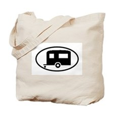 Travel Trailer Oval Sticker Tote Bag