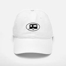 Travel Trailer Oval Sticker Baseball Baseball Cap