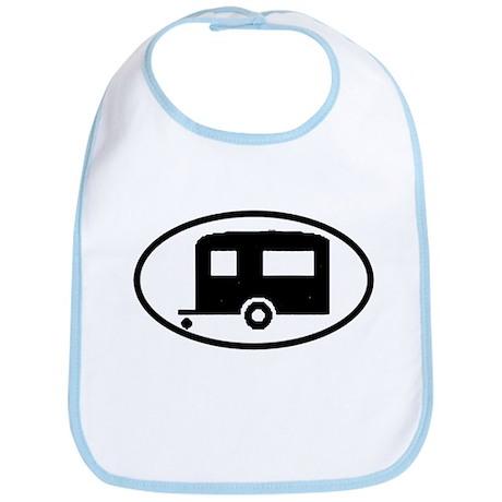 Travel Trailer Oval Sticker Bib