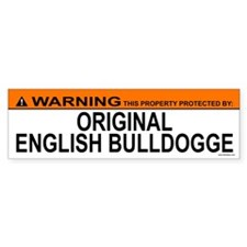 ORIGINAL ENGLISH BULLDOGGE Bumper Bumper Sticker