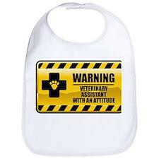 Warning Veterinary Assistant Bib