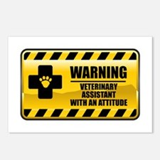 Warning Veterinary Assistant Postcards (Package of