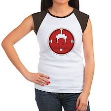 Santa Claus Top Women's Cap Sleeve T-Shirt